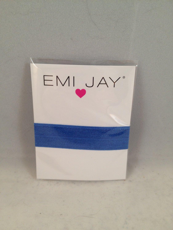 Emi Jay Hair Tie single Royal Blue Splash elastic