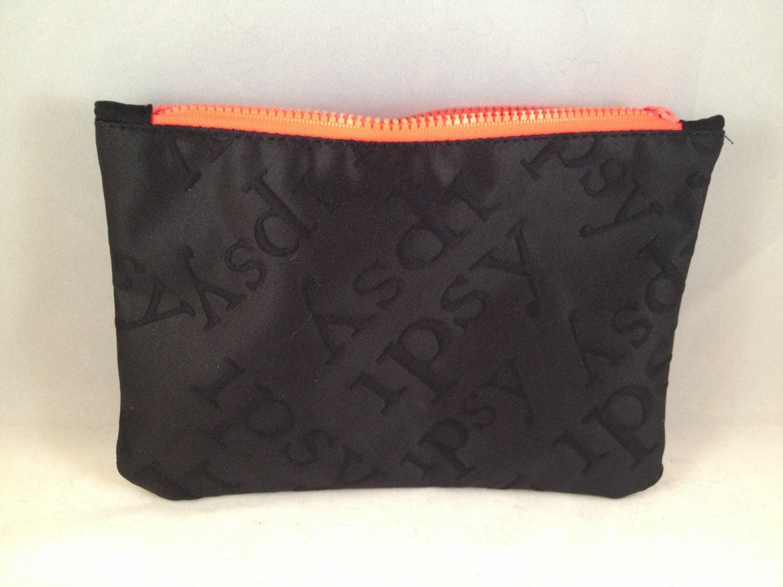 Ipsy MyGlam Glam Bag June 2015 Swim into Beauty Black Cosmetic case purse clutch empty zippered