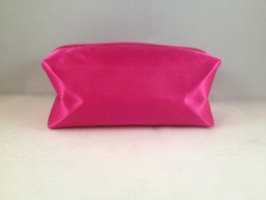 Bella Terra Cosmetics Pink Satin Rectangular Makeup travel Bag clutch cosmetic