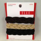 Elle Elastic Glitter Braids 3pc 3 ponytailers ponytail holders hair ties