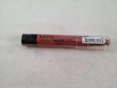 NYX Simply Nude Lip Cream SN06 Sable crayon lipstick *damaged*