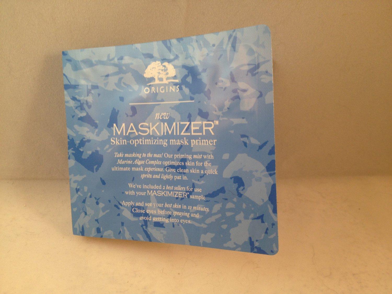 Origins Maskimizer Skin-Optimizing Mask Primer travel size priming mist spray 2 bonus facial masks