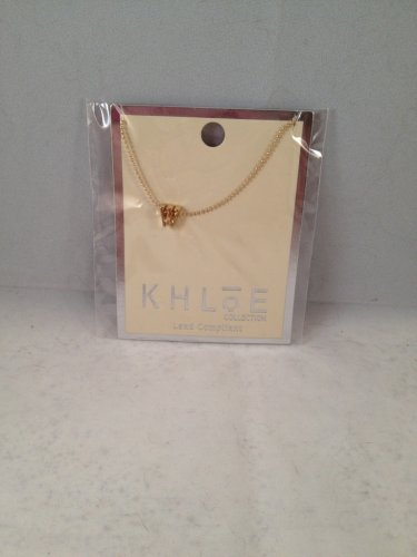 Cents of Style Khloe Collection Lowercase Initial Necklace W gold color chain lead compliant