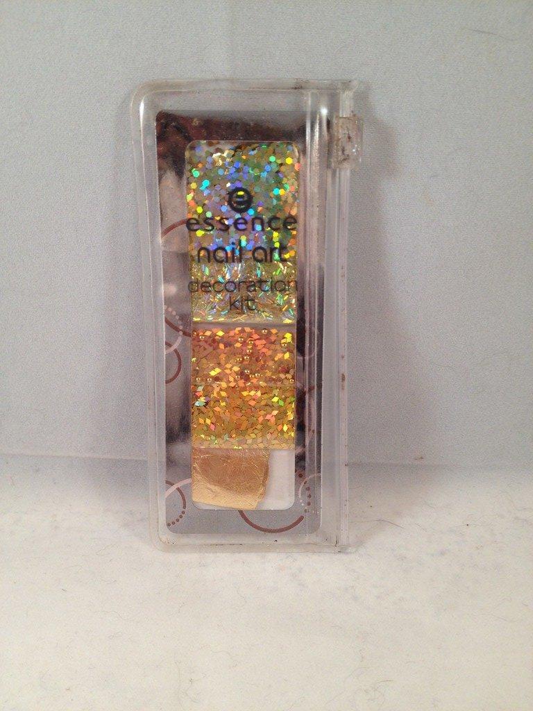 Essence 3D Nail Art Decoration Kit #02 Amazing Bling Bling gold glitter leaf rhinestones