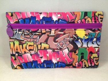 Ipsy MyGlam Glam Bag June 2016 Rebel Rebel graffiti Cosmetic case clutch empty