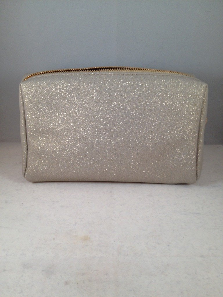 bareMinerals Chandlelight Glow Creme Sparkle Makeup Bag gold glittery empty clutch
