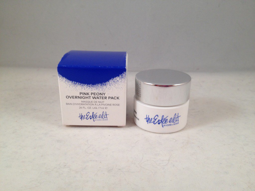 Estee Lauder The Estee Edit Pink Peony Overnight Water Pack Face Mask travel size