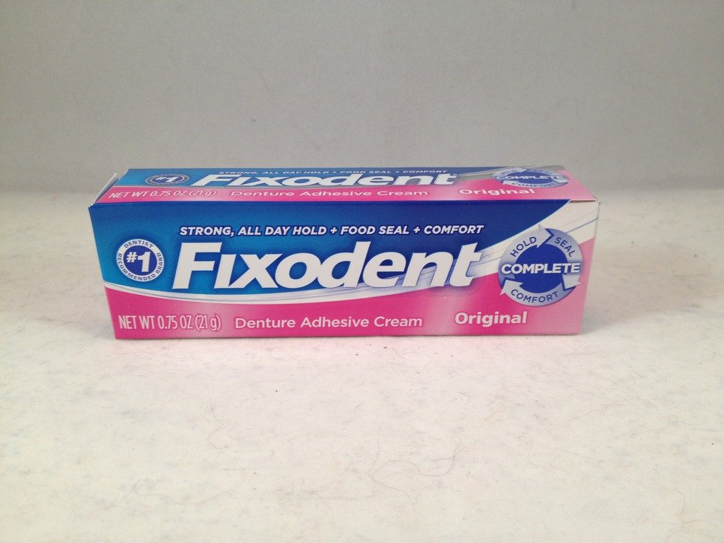 Fixodent Complete Denture Adhesive Cream Original travel size