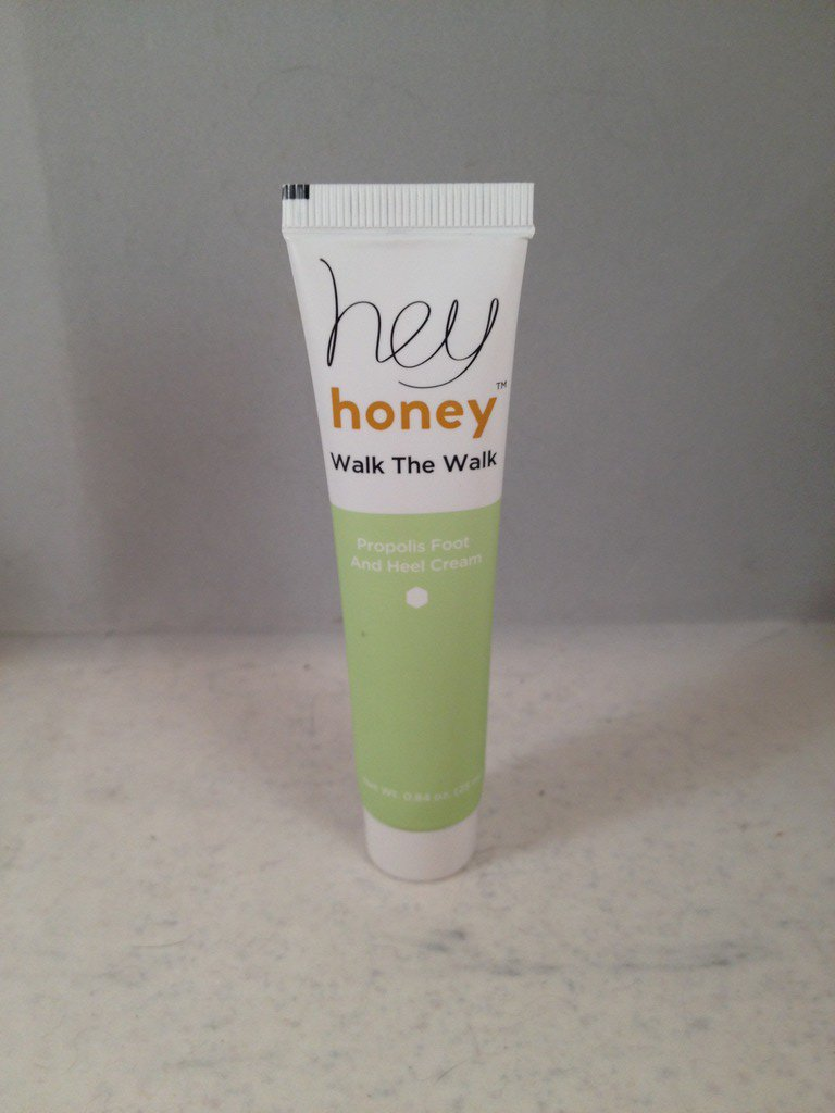 Hey Honey Walk the Walk Propolis Foot and Heal Cream travel size