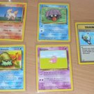 Pokemon Trading Card Cards 1999 Ponyta Slowpoke 5