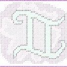 Gemini Symbol Plastic Canvas E-Pattern
