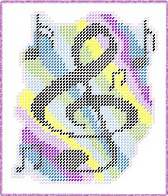 Musical Notes Plastic Canvas E-Pattern