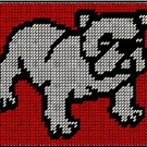 Bulldog Mousepad Plastic Canvas E-Pattern