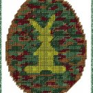 Camo Easter Egg Plastic Canvas E-Pattern