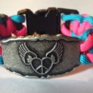 Winged Heart Paracord Bracelet