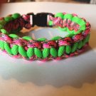 Paracord Bracelet - Pink & Green