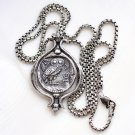 It spins! Small Sterling Silver Tetradrachm Owl Coin Pendant Necklace Jewelry