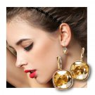 """ NEW "" Citrine Quartz Lever Back Earrings With "" FREE "" Gift Package"