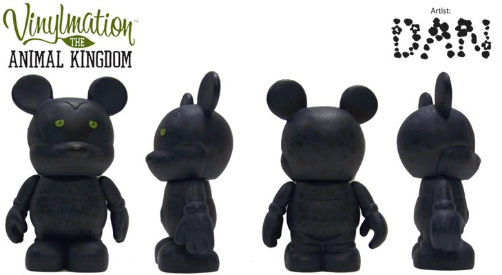 Disney 3inch vinylmation figurines-animal kingdom-panther