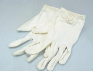 Vintage White Cotton Shortie Gloves, Sz 6-1/2, Neiman-Marcus/Christian Dior, Made in France