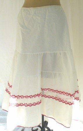 Vintage Richform Nylon Taffeta Can-can Petticoat, Pretty Red Trim!
