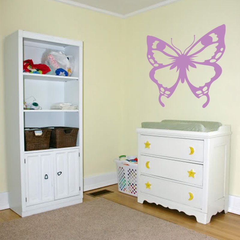 new huge butterfly vinyl wall sticker decal great for children s butterfly fabric wall stickers by koko kids