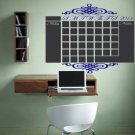 Chalkboard Monthly Office Calendar Vinyl Wall Sticker