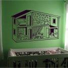 *NEW* Little Girls Dollhouse Vinyl Wall Sticker Decal
