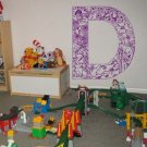 *NEW* Alphabet Letter D Kids Vinyl Wall Sticker Decal