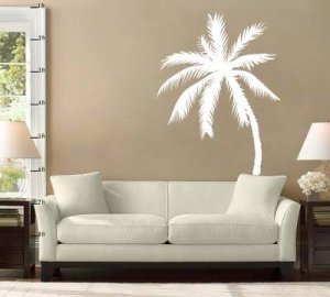 6 Foot Palm Tree Room Design Vinyl Wall Sticker Decal