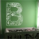 *NEW* Alphabet Letter B Kids Vinyl Wall Sticker Decal