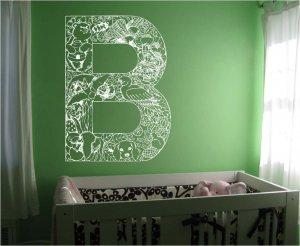 *NEW* Alphabet Letter B Kids Vinyl Wall Sticker Decal