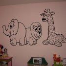Cute Baby Animals Nursery Vinyl Wall Sticker Decals