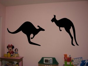 Silhouette Kangaroos Vinyl Wall Sticker Decal