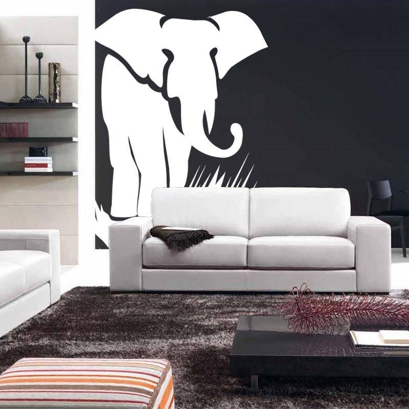 Huge 6 Ft Elephant Vinyl Wall Sticker Decal