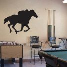 Large Horse Racing Vinyl Wall Sticker Decal