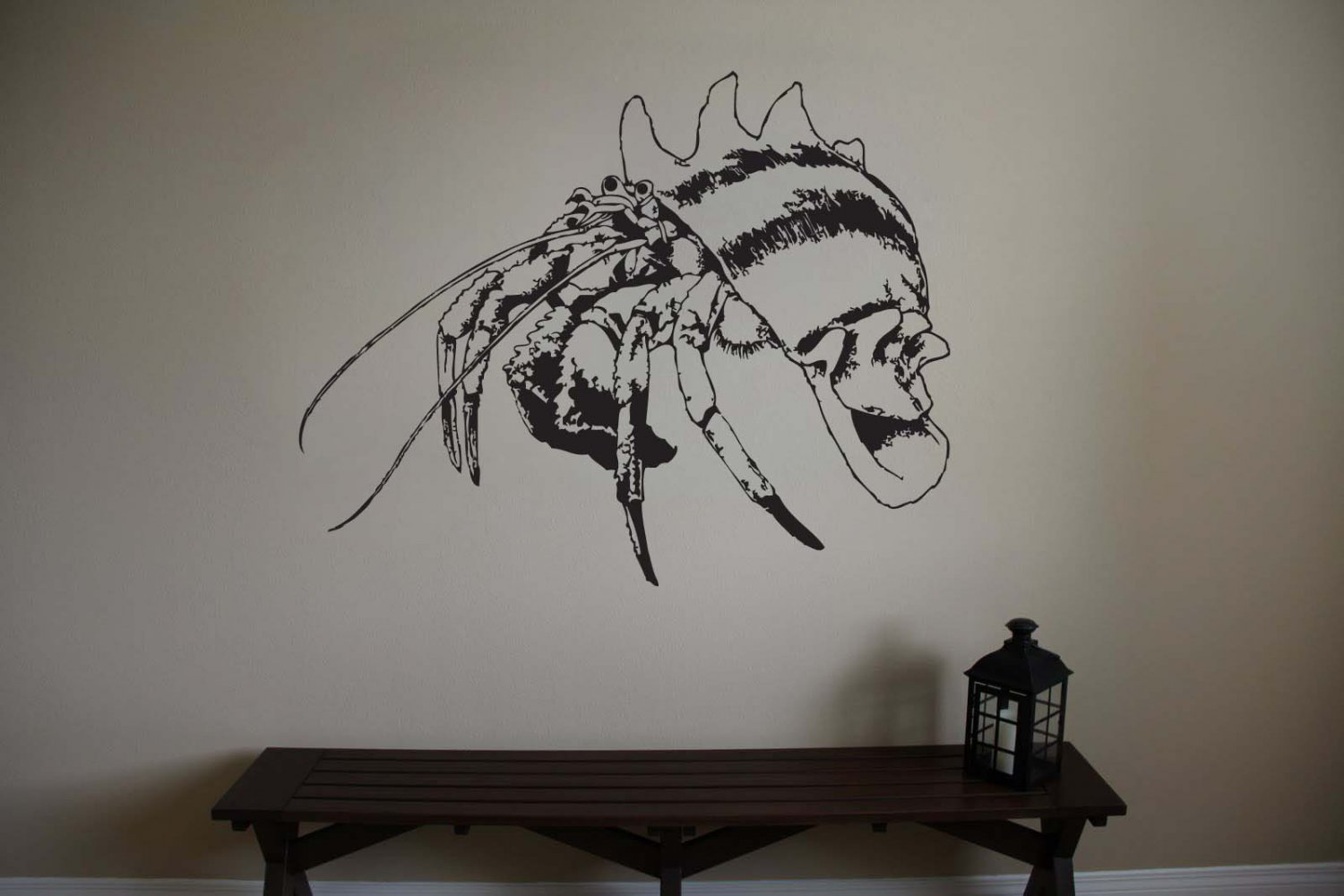 Large Hermit Crab Vinyl Wall Sticker Decal