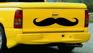 Large Roller Derby Moustache Vinyl Wall Sticker Decal