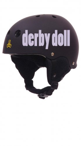 Roller Derby Helmet Vinyl Sticker Decal (Derby Wife or Derby Doll)