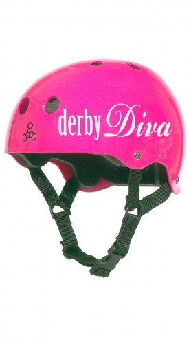 Roller Derby Helmet Vinyl Sticker Decal (Derby Diva, Derby Virgin or Jammer)