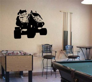 Roller Derby Skates Vinyl Wall Sticker Decal