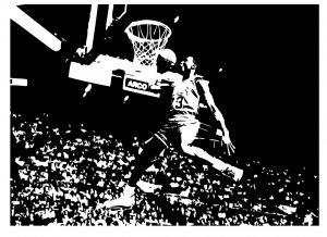 Large Michael Jordan Bulls Basketball Dunk Vinyl Wall Sticker Decal