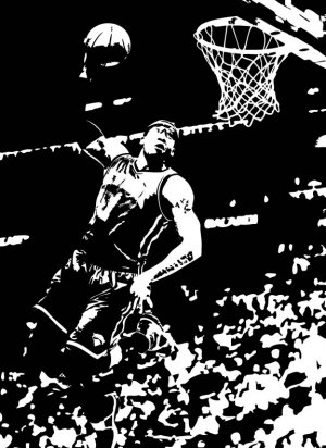 Large Amare Stoudemire Knicks Basketball Dunk Vinyl Wall Sticker Decal