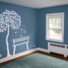 7 Foot Tree Silhouette Room Design Vinyl Wall Sticker
