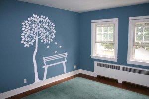 7 Foot Tree Silhouette Room Design Vinyl Wall Sticker