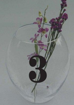 Wedding Table Numbers 1-15 Vinyl Sticker Decals