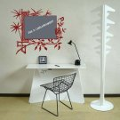 Floral Chalkboard Framed Memo Vinyl Wall Sticker Decal...Great for any Home, Dorm Room or Office