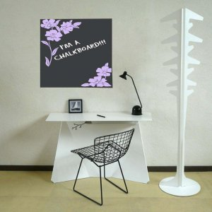 Chalkboard Vinyl Floral Memo Wall Sticker Decal...Great for any Home, Dorm Room or Office