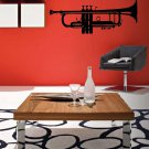 Cool Jazz Trumpet Vinyl Wall Sticker Decal