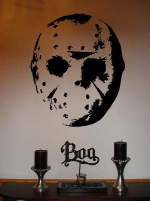 Jason Hockey Mask Halloween Vinyl Wall Sticker Decal